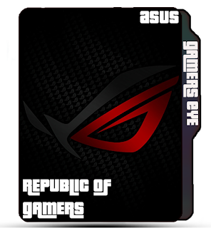 Asus Brand Icon, Gamer, Brand, Logo, Asus Folder icon, black Asus Logo icon, red Asus Logo icon.