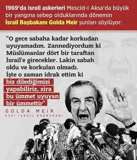 Golda Meir, israil, başbakan, yahudi, siyonist, ilüminati, basın açıklaması, katil, hain, terörist