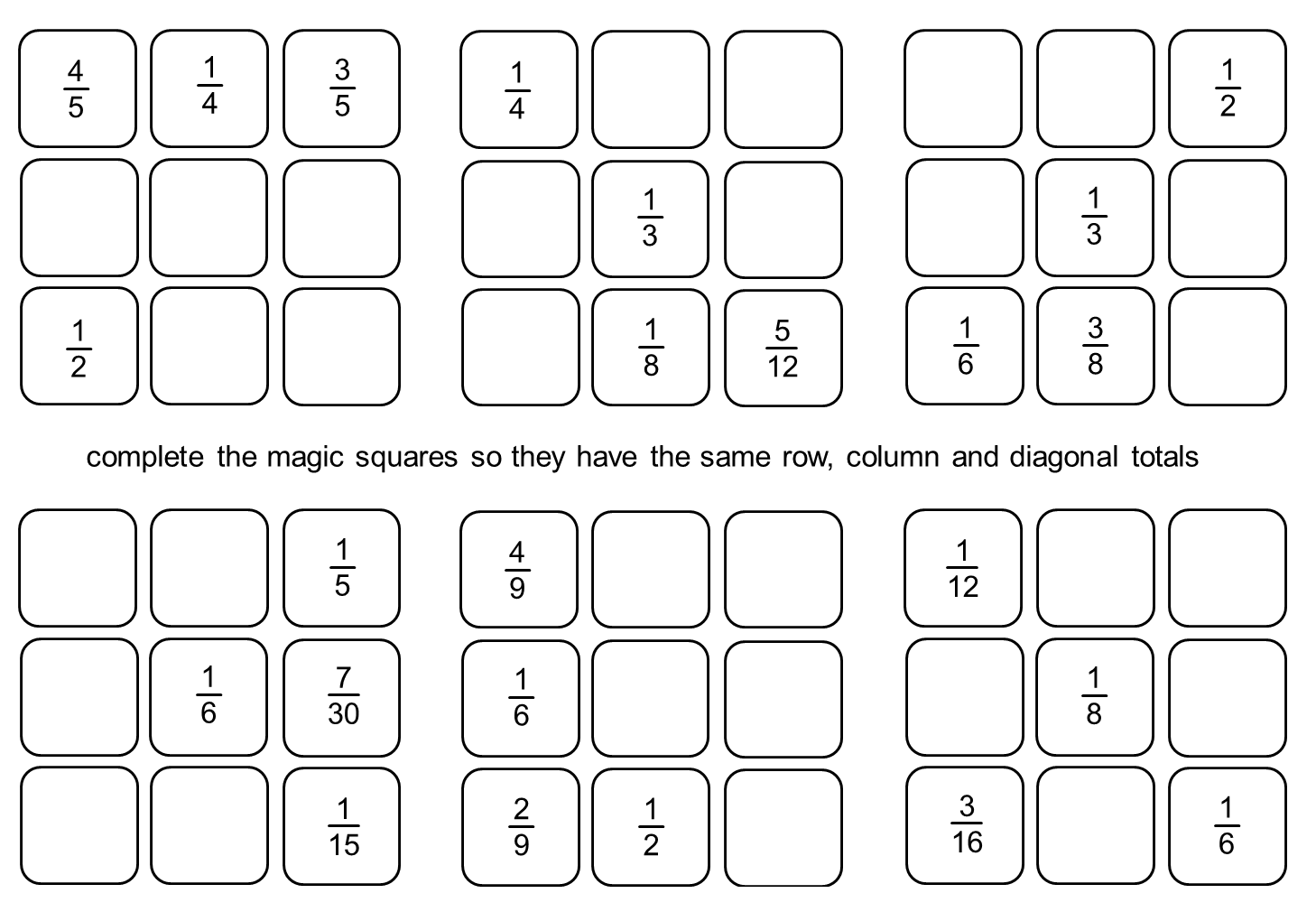 Free Worksheet Magic Squares Worksheet magic square template part 1 666 of the sun median don steward squares fraction practice