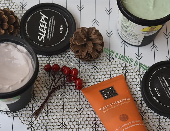 Favoritos de Cuidado Corporal: Hidratantes de Lush + Cremas corporales de Naranja Dulce de Rituals