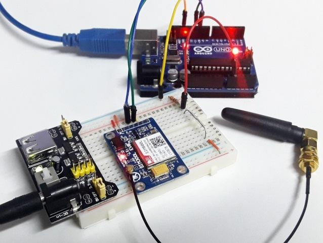 Circuito alarme por SMS com o SIM800L e Arduino Uno