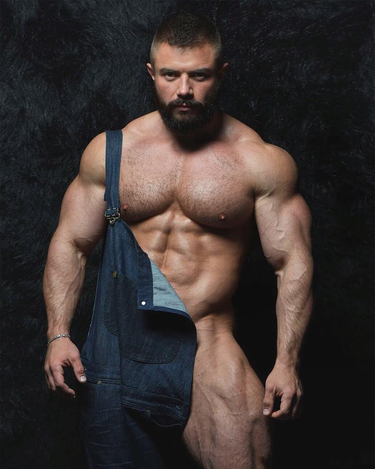 naked sexy rugged man
