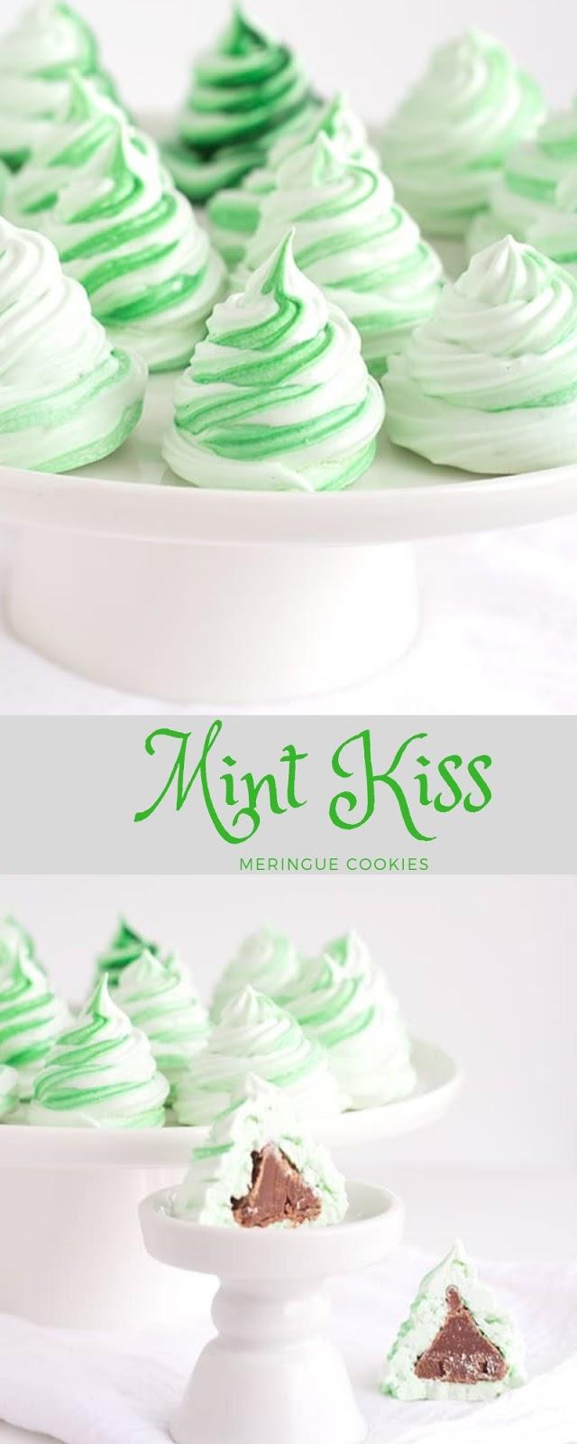 Mint Kiss Meringue Cookies