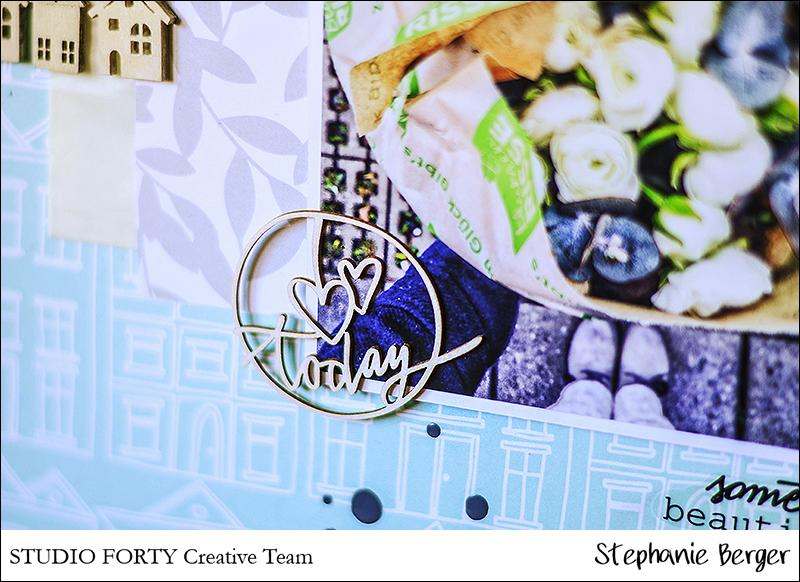 Stephanie Berger - Scrapbooking - Studio Forty - Ranunculus love