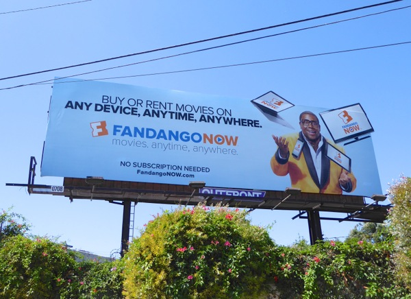 FandangoNOW any device anytime anywhere billboard