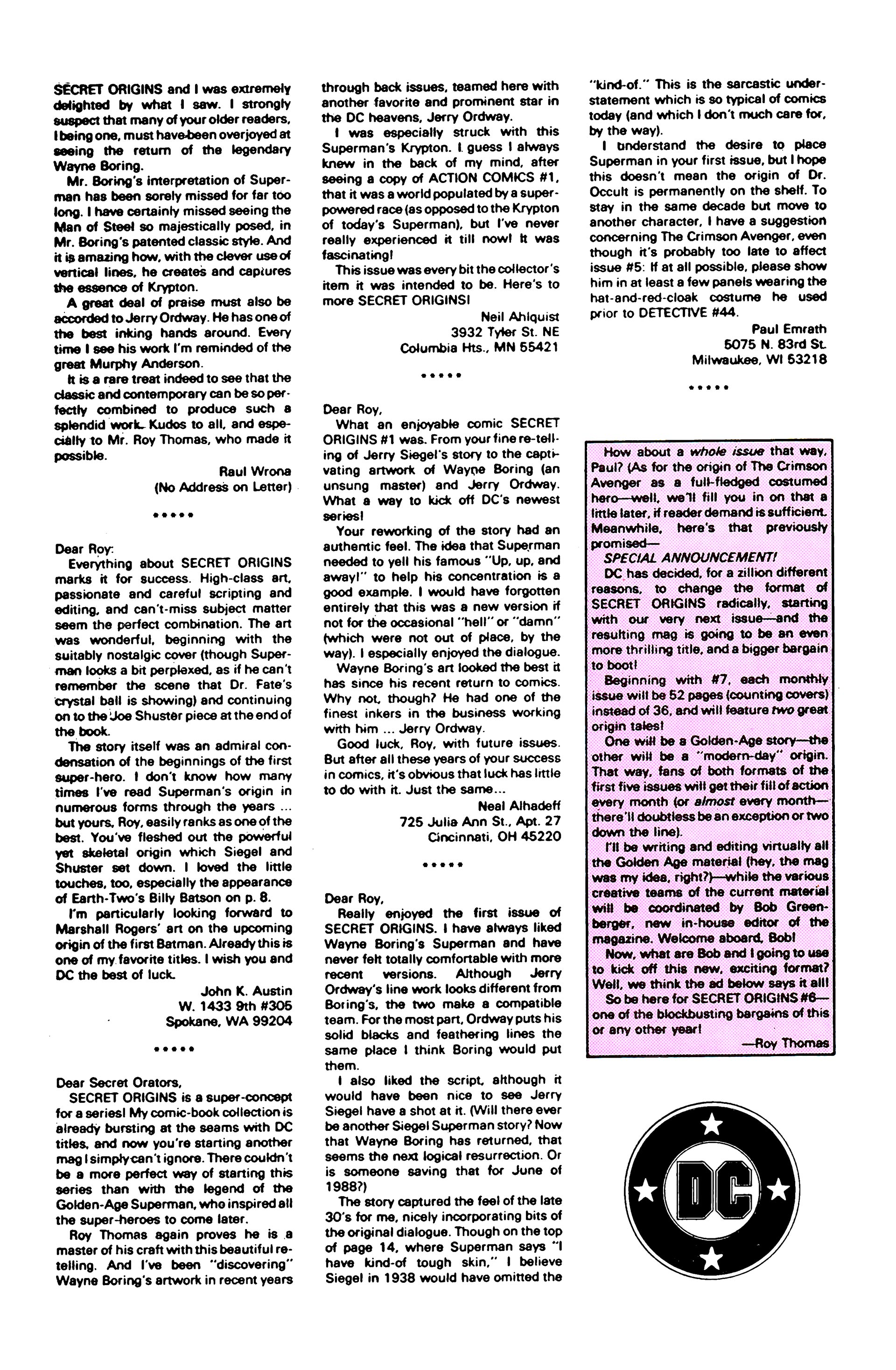 Read online Secret Origins (1986) comic -  Issue #5 - 34