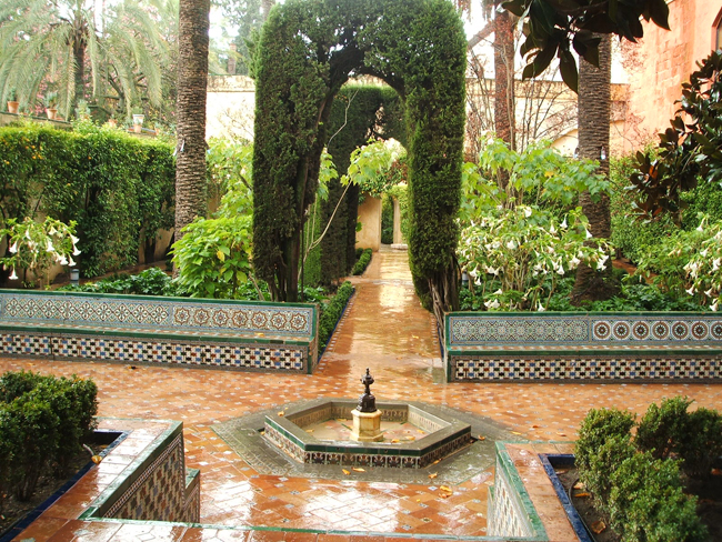 Jardines del alc zar de sevilla parte ii paisaje libre for Ejemplos de jardines