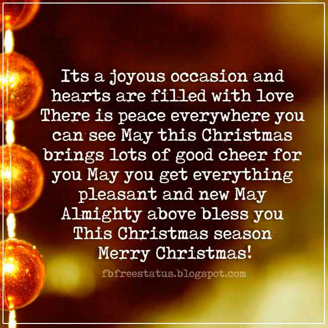 Merry Christmas saying for cards and Christmas Pictures