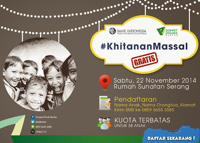 Khitanan Massal Dompet Dhuafa Banten November 2014.