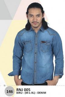 jual kemeja jeans pria murah