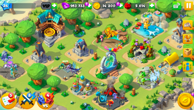 Download Game Dragon Mania Legends Mod Apk Unlimated Mony