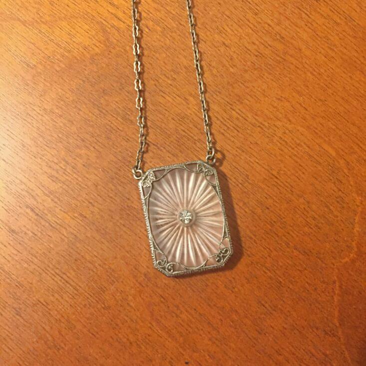 rectangular glass necklace