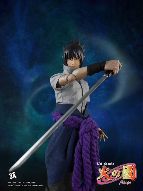 osw.zone T Toy Model 1 / 6. Scale Ninja Sasuke 12 inch figure from Manga and Anime Franchise Naruto