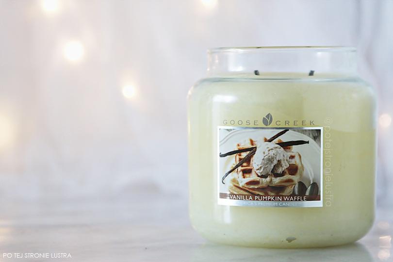 świeca goose creek vanilla pumpkin waffle