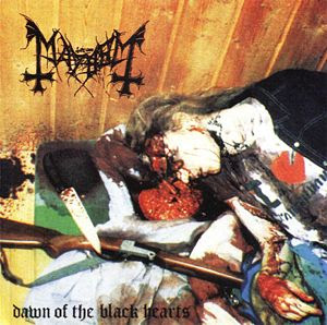 Real picture of Dead cadaver used as the album cover of Mayhem 'Dawn of the Black Hearts'. PYGear.com