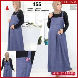 MOM137D14 Dress Hamil Menyusui Rainbow Maxi Dresshamil Ibu Hamil