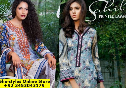fd8a1194cd Sahil Printed Lawn Collection 2017-18 | ZS Textiles Spring/Summer 2017  Catalog | She-Styles | Pakistani Designer Dresses - Fashion Weeks - Lawn  Collection