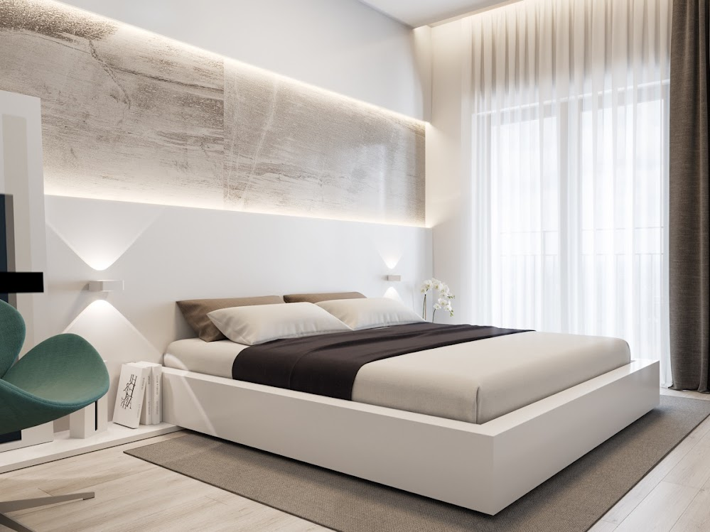 marble-panel-LEDs-modern-bedroom-accent-wall-panels