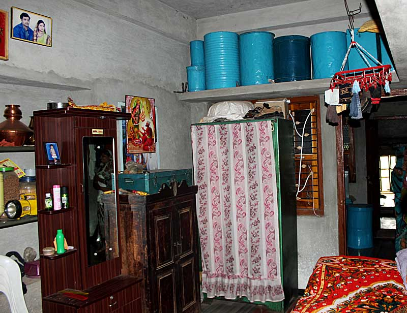 Stock Pictures Interiors of rural homes in India