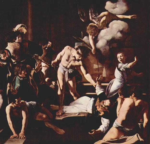 Martírio de São Mateus - Caravaggio e suas principais pinturas ~ O gênio rebelde