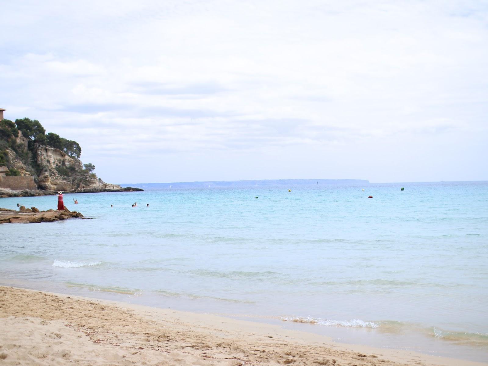 pretty blue water on the coast of mallorca, spain