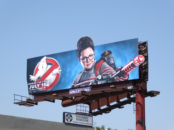 Melissa McCarthy Ghostbusters movie billboard