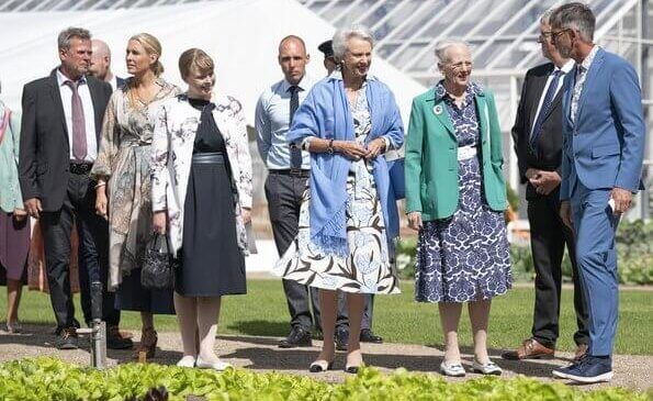 Danish Queen Margrethe and Princess Benedikte opened the Royal Vegetable Garden at Graasten Castle, Crown Princess May and Princess Isabella