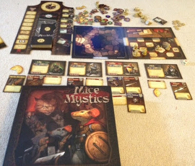 Mice and Mystics game in play