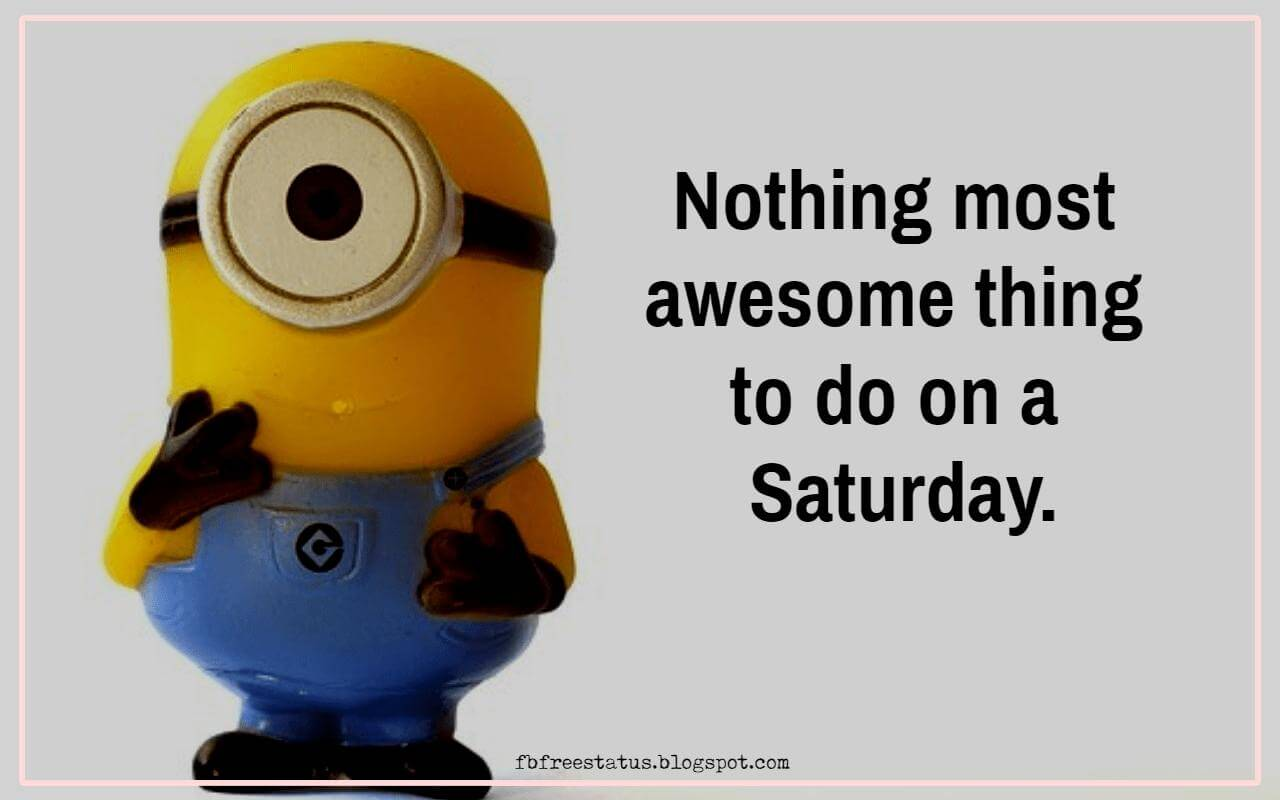 Nothing most awesome thing to do on a Saturday.