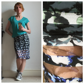 Print skirt from Miss Selfridge