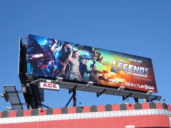 DC's Legends of Tomorrow series premiere billboard