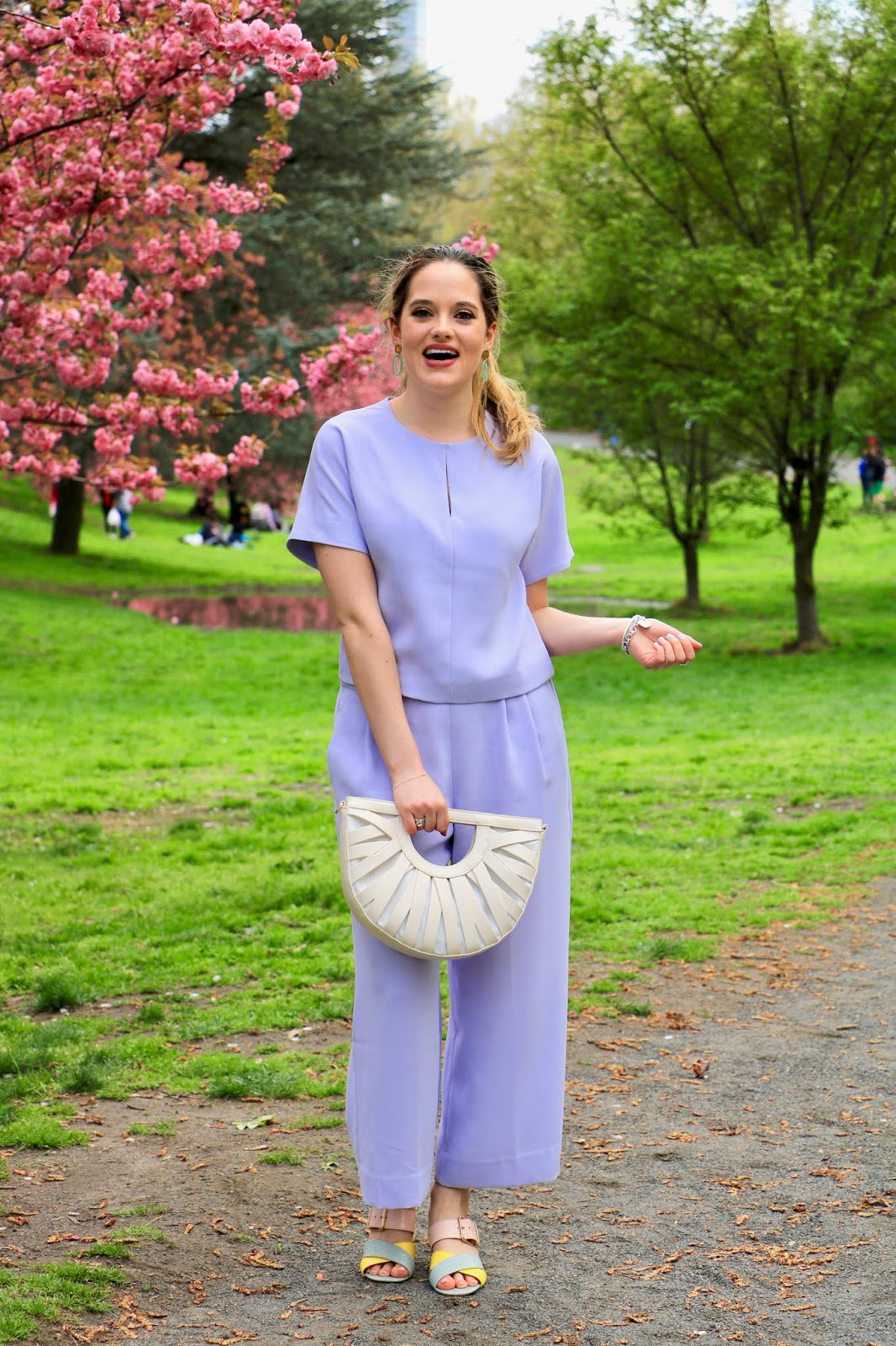 Nyc fashion blogger Kathleen Harper's spring 2019 pics in Central Park