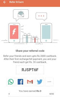 freecharge refer & earn trick