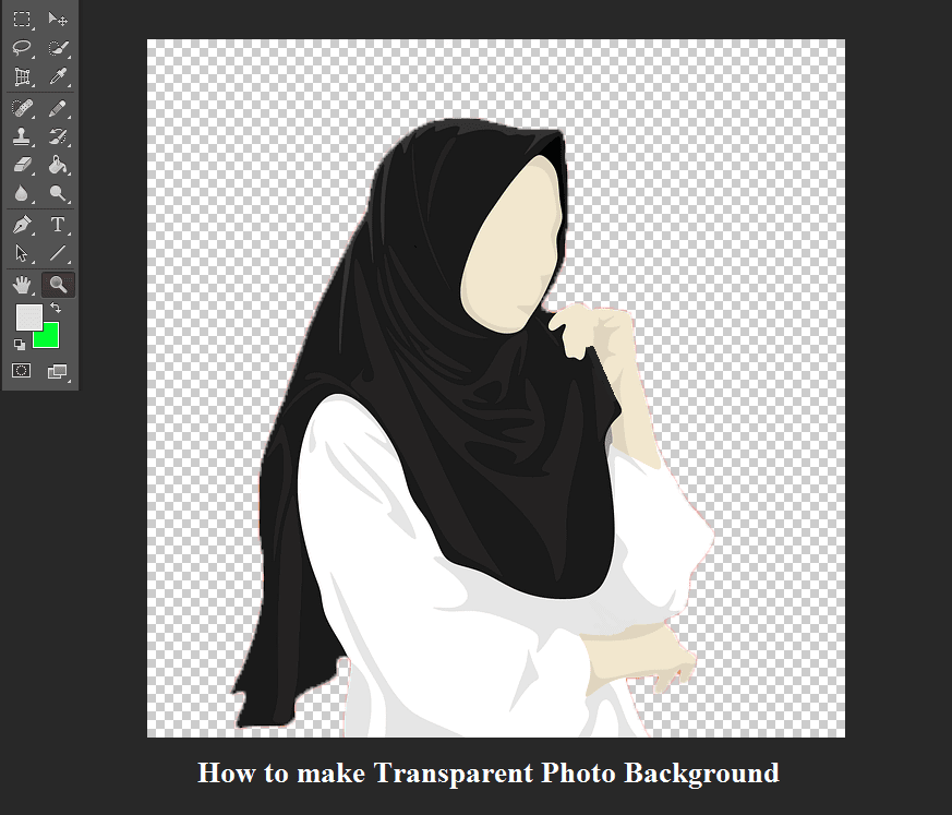 Menghapus background gambar jadi transparan