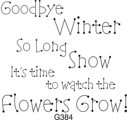 She Left Her Mind Behind: Goodbye Winter, Hello Spring
