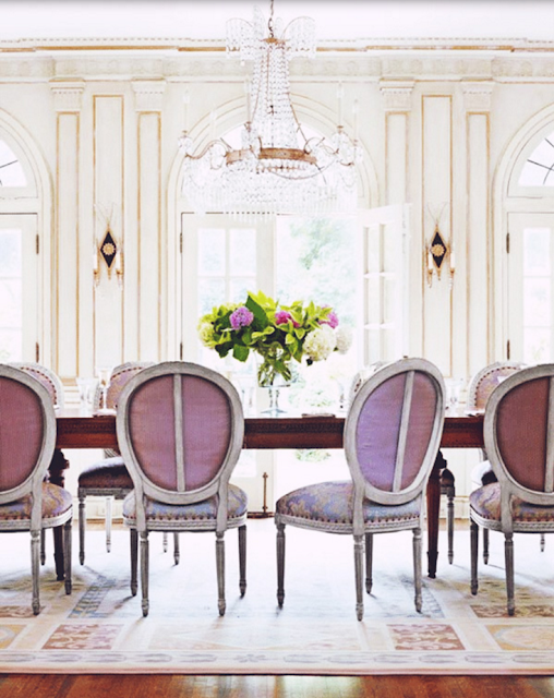 Cozy dining Room, Images of inspiration in Lavender, Lilac and Mauve
