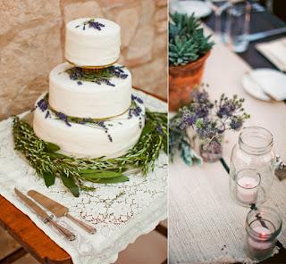 Elegant Lavender Style Wedding Cakes