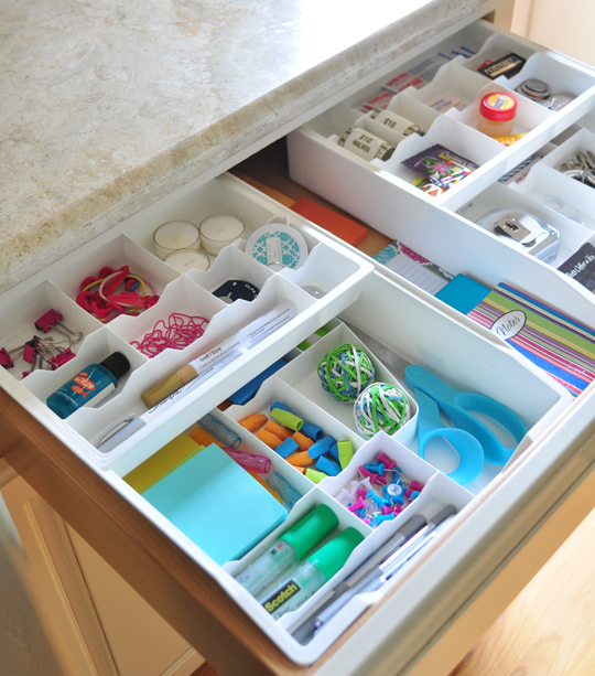 Craft junk drawer :: OrganizingMadeFun.com