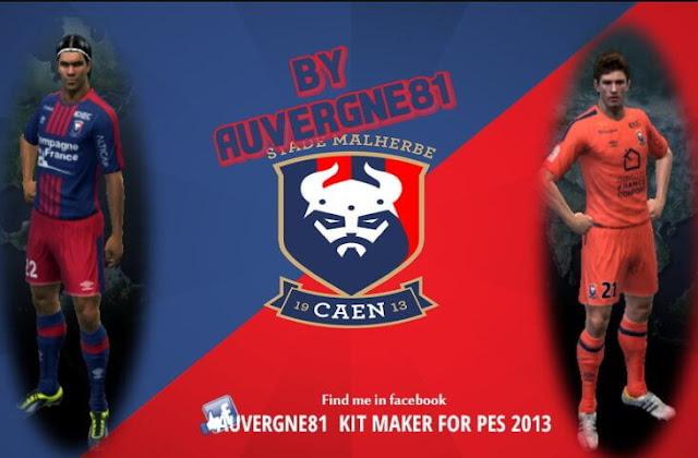 SM Caen Kit 2017-2018 PES 2013