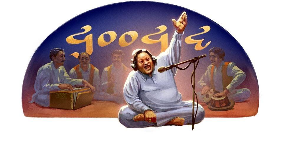 गूगल डूडल पर नुसरत फतेह अली खान