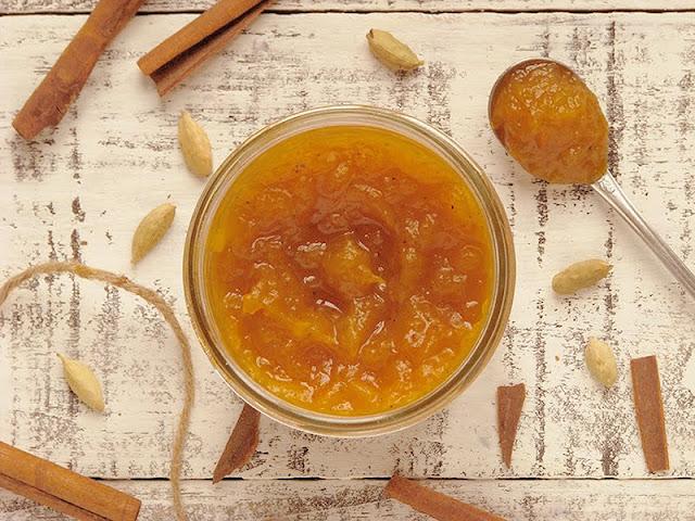 recette de confiture avec des pommes et du potiron