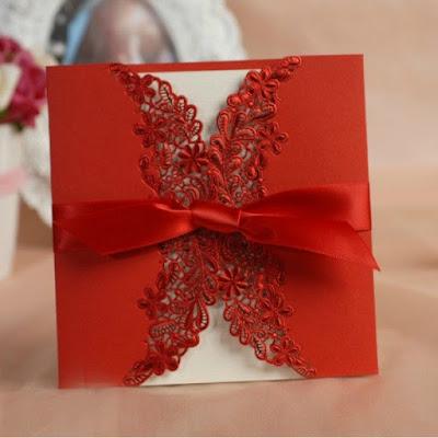 Convite para casamento natalino