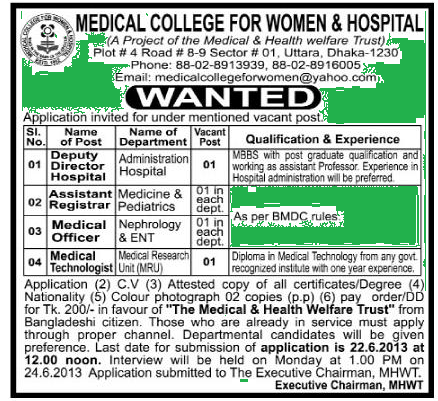 Medical College For Women & Hospital