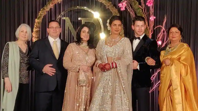 Check Out Wedding Reception Pics of Priyanka and Nick