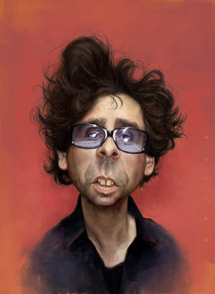 "Caricatura de ""Tim Burton"" + 2 videos del proceso por Jason Seiller"