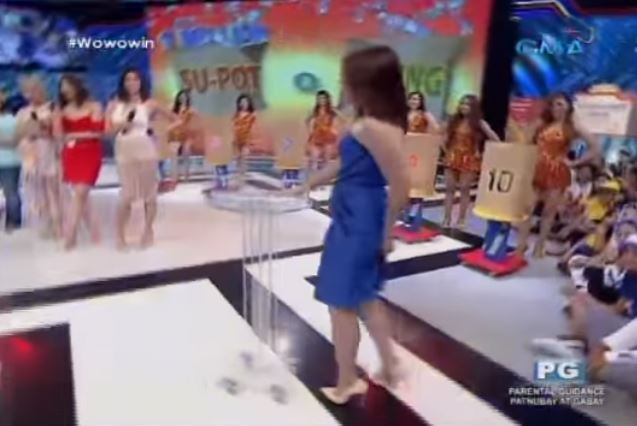 Former Sexbomb Dancer Sugar Mercado Had A Wardrobe Malfunction In The Middle Of Her Dance Number In Wowowin!