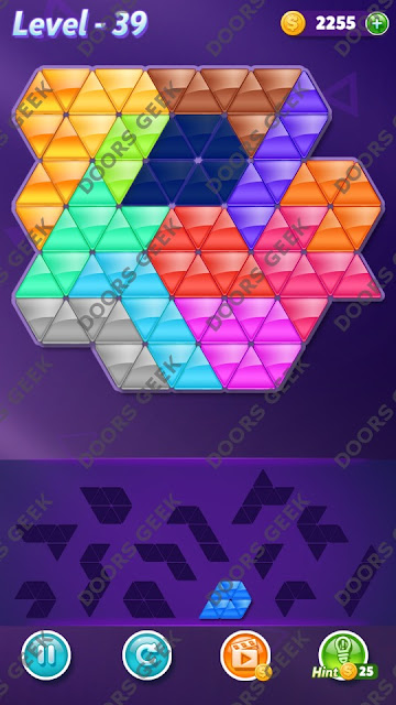 Block! Triangle Puzzle Grandmaster Level 39 Solution, Cheats, Walkthrough for Android, iPhone, iPad and iPod