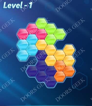 Block! Hexa Puzzle [6 Mania] Level 1 Solution, Cheats, Walkthrough for android, iphone, ipad, ipod