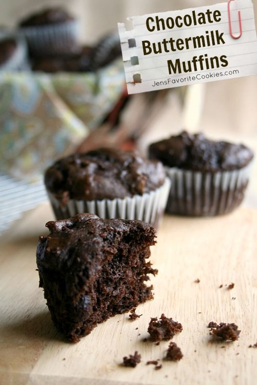 Chocolate Buttermilk Muffins