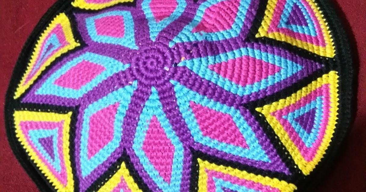 Heikeshäkellust: Boden für Wayuu mochila